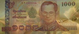 Billet Plaqué Or 24K  Thaïlande  1000 Bath   Le Roi Rama IX Bhumibol Adulyadej   NEUF - Billets
