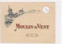AC ( Etiquette De Vin )  - B3297 - Beaujolais - Moulin à Vent 1911 - Beaujolais