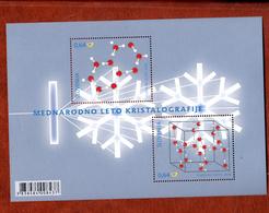 Slovenie 2014 Mi Nr Blok 76, Kristal, Gecombineerde Uitgifte Met Belgie - Slovenië
