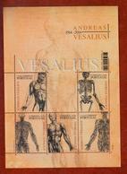 Portugal 2014 Mi Nr Blok 358,menselijk Lichaam Van Andreas Vesalius, Gecombineerde Uitgifte Met Belgie - 1910-... République