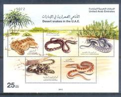 F178- UAE United Arab Emirates 2012. Reptiles Snakes. Tree. Plants. - United Arab Emirates
