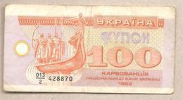 Ucraina - Banconota Circolata Da 100 Karbovanets P-88a - 1992 - Ukraine