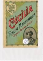 AC ( Etiquette De Vin )  - B3283 - Rhum Marinique Cécilia - Rhum