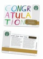 Starbucks Card - Canada - Congratulations - 6103 Mint Pin - Gift Cards