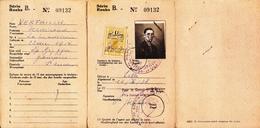Belgium Passport (Carte De Touriste ) Belgique, Belgium, Belgie 1938 - Documents Historiques
