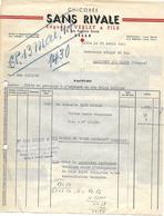 Facture Lettre / Lot 1 Facture + 1 Traite / 59 NORD / LILLE / Chicorée SANS RIVALE / 1947 / Bon Transport Dos Facture - France