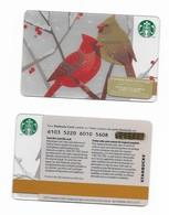 Starbucks Card - Canada - Birds - 6103 Mint Pin - Gift Cards