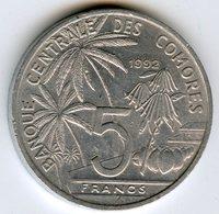 Comores Comoros 5 Francs 1992 KM 15 - Comoros