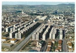 CPSM LYON, VUE AERIENNE SUR LE BOULEVARD DES ETATS UNIS ET LYCEE D'ETAT ( AUGUSTE ET LOUIS LUMIERE ), RHONE 69 - Lyon