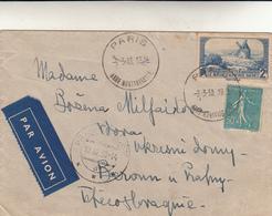 Parigi To Beroun, Praga. Cover 1938 - Francia