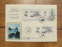 France Groenland  4110 & 4111   // Premier Jour FDC //  1 Enveloppe Max //  2007  + Bloc Groenland - FDC