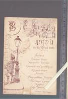Menu - St Philbert De Grandlieu - 15 Avril 1895 - Hotel Leparoux (donné Pour La Société Des Becs Salés) - Menu