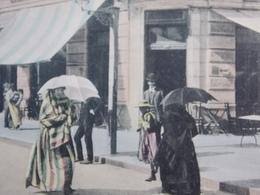 Romania Roumanie - CONSTANTA 1915 TURKEY Types Ladies In Animated Street - Shop - Rumänien
