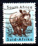 AFRIQUE DU SUD. N°205 Oblitéré De 1954. Rhinocéros. - Rhinozerosse