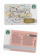 Starbucks Card - Canada - Happy Birthday - 6103 Mint Pin - Gift Cards
