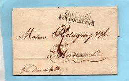 """""""COLONIES PAR BORDEAUX"""" LAC De POINTE A PITRE,4/8/1823. - 1801-1848: Precursors XIX"""