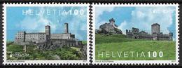 2017 Schweiz  Mi.2495-6 **MNH  Europa: Burgen Und Schlösser. - Schweiz