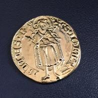 MONETA FIORINO ARGENTO DORATO 925 - Riproduzione Anni '60 Picchiani & Barlacchi - Monetary/Of Necessity