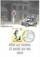 3370 - 3.00F+0.60F - GASTON  - FÊTE DU TIMBRE 2001 - 45 SAINT-DENIS-EN-VAL - Carte Postale Locale - FDC
