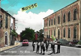 Molise-campobasso-montecilfone Via Roma Veduta Scuola Auto D'epoca Persone Animata Anni 50/60 - Italia