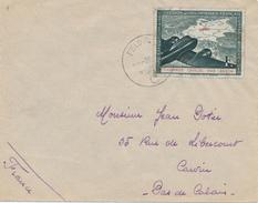 493/25 - Enveloppe Timbre Légion Des Volontaires Français PAR AVION - Cachet Feldpost Vers CARVIN Pas De Calais - Guerres