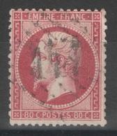 France - YT 24 - 80c Rose Oblitéré GC - 1862 Napoleon III