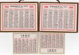 Calendriers > Petit Format : 1941-60 Almanach Des PTT 1960 Et Petit Calendrier 1960 - Calendars