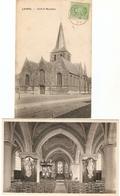 Laarne / Laerne : Kerk -- Binnen-en Buitenzicht ---- 2 Kaarten - Laarne
