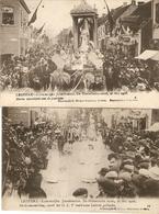 Lebbeke : Jubelfeesten 1908 --- 2 Kaarten - Lebbeke
