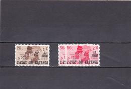 Katanga 1960  N° 40/41   Timbre Du Congo Surchargé - Katanga