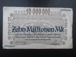 BILLET ALLEMAGNE (V1719) Zehn Millionen Mark 10000000 (2 Vues) Essen 15/08/1923 - [ 3] 1918-1933 : République De Weimar