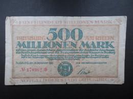 BILLET ALLEMAGNE (V1719) Funf Hundert Millionen Mark 500000000 (2 Vues) Duisburg 15/09/1923 Stadt Neuss - [ 3] 1918-1933 : République De Weimar