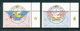 GERMANY Mi. Nr. 2790-2791 Grußmarken  - ET Weiden - Eckrand Oben Rechts - Used - BRD