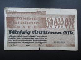 BILLET ALLEMAGNE (V1719) Fünfzig Millionen Mark 50000000 (2 Vues) Gladbeck Und Osterfeld 21/09/1923 - [ 3] 1918-1933: Weimarrepubliek