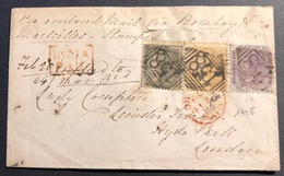 1856- 1864 Compagnie Des Indes Anglaises N°10,11 & 15 Tricolore Pour Londres Superbe ! - 1858-79 Crown Colony