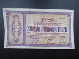 BILLET ALLEMAGNE (V1719) Fünfzig Millionen Mark 50000000 (2 Vues) Recklinghaufen Und Buer 15/09/1923 - [ 3] 1918-1933 : République De Weimar