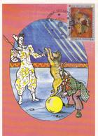 Carte-Maximum FRANCE N° Yvert 2833 (LE CIRQUE) Obl Sp Ill 1er Jour ((Ed Escargophiles - Etienne QUENTIN) - Maximum Cards