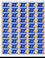 1959  Italie, 10 Ans De L'OTAN,  781 /782** En Feuille De 50, Cote 40 €, - OTAN