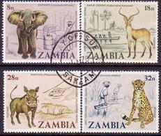 ZAMBIA 1978 SG #275-78 Compl.set Used Anti-Poaching Campaign - Zambia (1965-...)