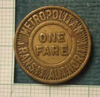 M_p> America Gettone Boston - MASSACHUSETTS Trasporto Metropolitana - Monedas/ De Necesidad
