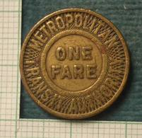 M_p> America Gettone Boston - MASSACHUSETTS Trasporto Metropolitana - Monetary/Of Necessity