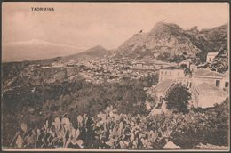 Vista Generale, Taormina, Sicilia, 1922 - Galifi Crupi Cartolina - Italy