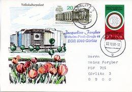 """DDR Amtl. GZS-Postkarte P 101ZF 10(Pf) Mehrfarbig """"Philatelistische Weltausstellung """"BULGARIA 1989""""TSt 3.10.1990 GÖRLITZ - Postcards - Used"""