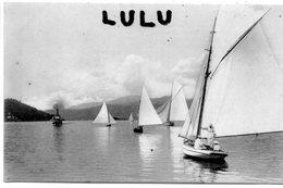 TRANSPORT 85 : Voiliers Sur Un Lac ?  Bateau A Vapeur Au Fond Certainement Lac Léman , édit. W H B - Voiliers