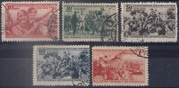 Russia 1940, Michel Nr 736-40, Used - 1923-1991 USSR