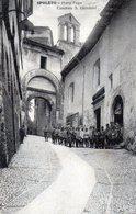 SPOLETO - PORTA FUGA - CASERMA SAN GIOVANNI - Rara - PERUGIA - VIAGGIATA - Perugia