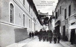 SPOLETO - VIA ANFITEATRO - CASERMA MINERVIO - 52° FANTERIA - PERUGIA - VIAGGIATA - Perugia