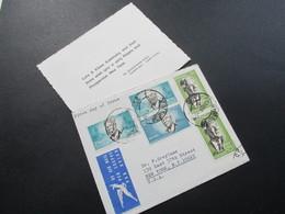 Süd Afrika / South Africa 1966 MiF Aus Dem Bedarf Als FDC Mit Neujahrskarte! Air Mail Nach New York - Afrique Du Sud (1961-...)