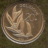20 Frank 1992 Frans * Uit Muntenset * FDC - 07. 20 Francs