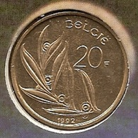20 Frank 1992 Vlaams * Uit Muntenset * FDC - 07. 20 Francs
